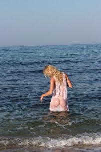 bionda amatoriale spiaggia